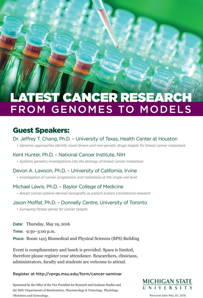 cancer symposium announcement