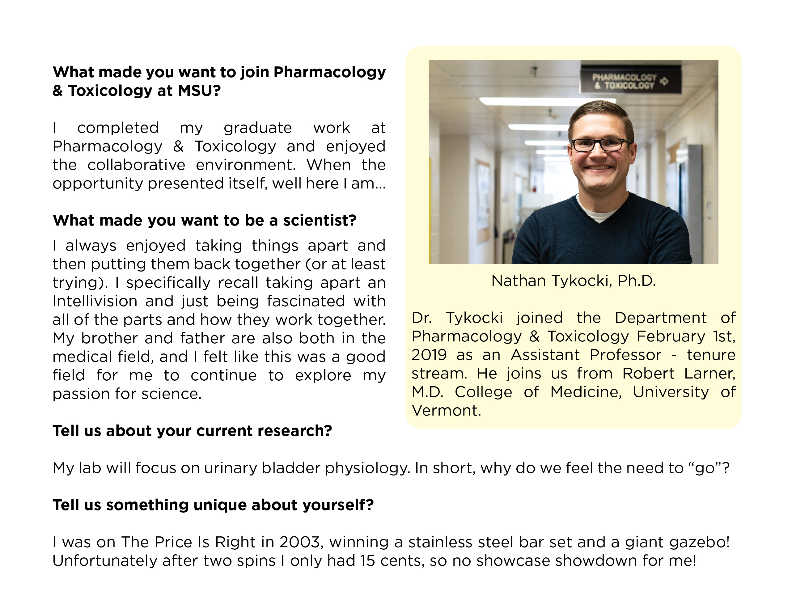 Dr. Nathan Tykocki joins the PharmTox team